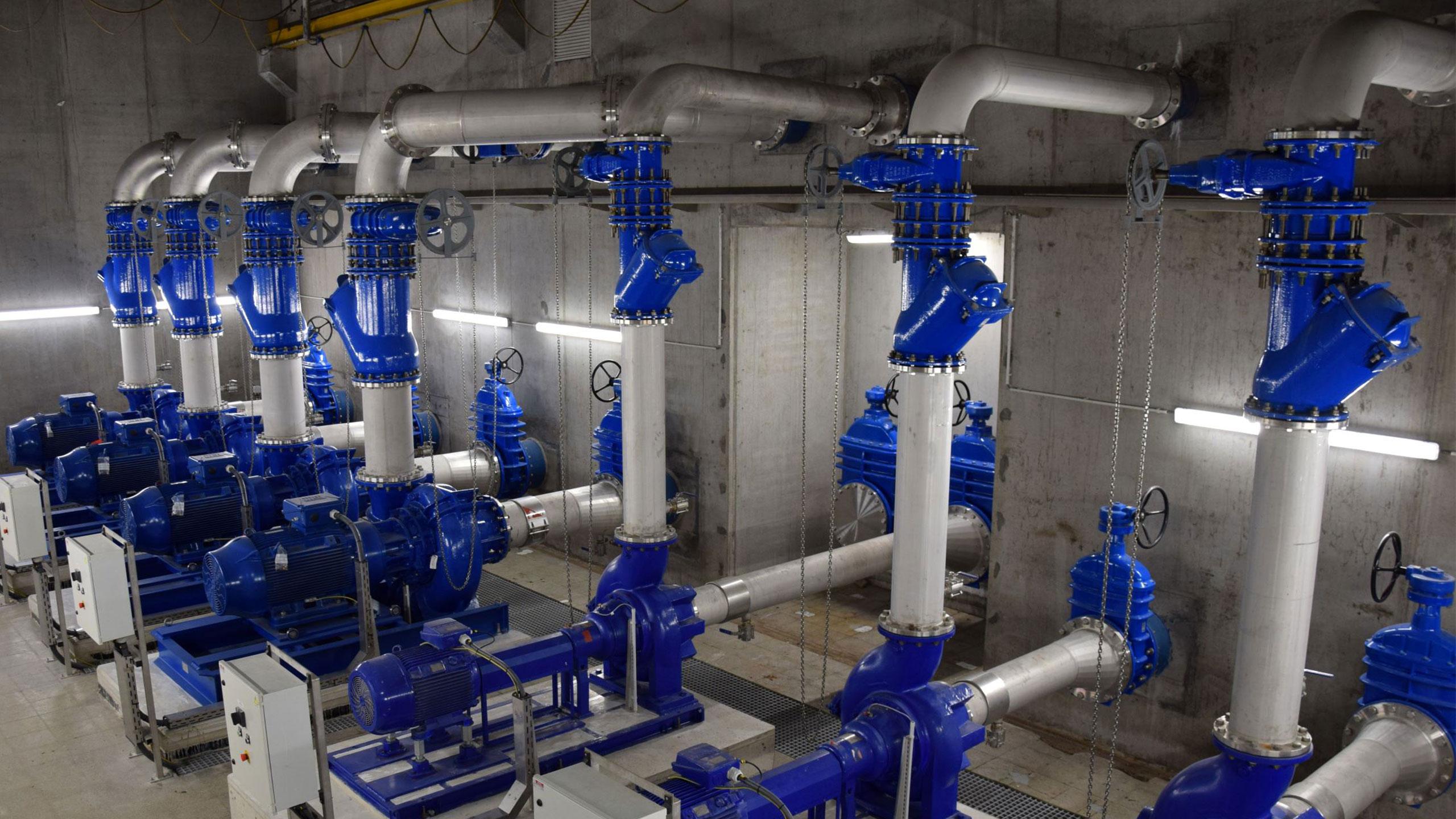 Vane AVK la o stație de pompare a apelor reziduale în Belgia